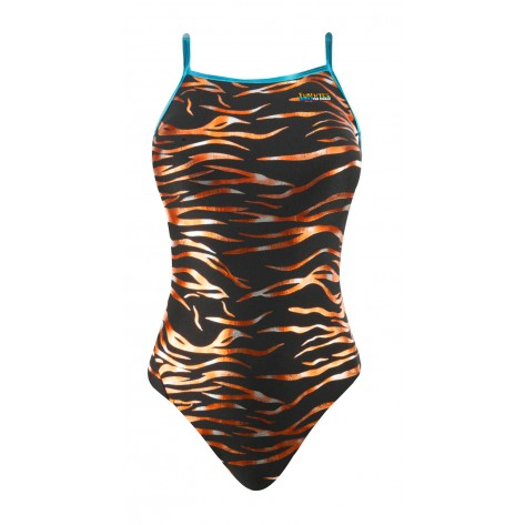 Youth Wild Tiger Wing Back Swimsuit