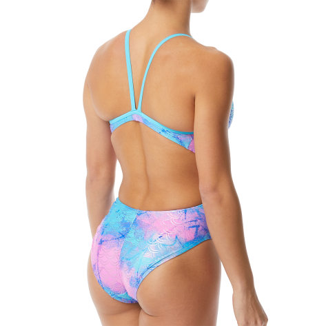 Women's Mermaiden Foil Funnies Wingback Swimsuit color