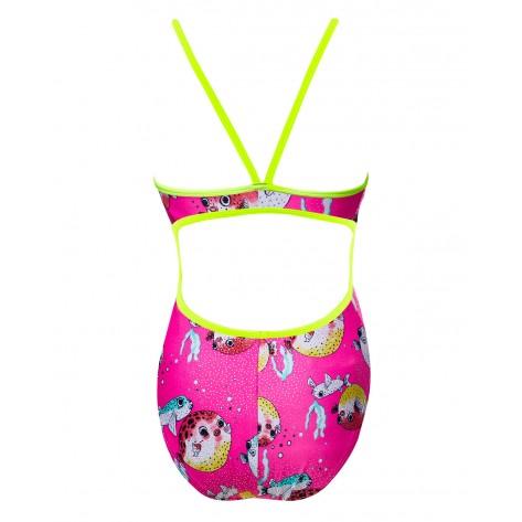 Women's Reel It In Foil Funnies Flutterback Swimsuit  color