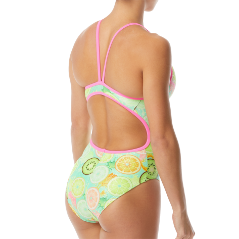 Women's Coolada Foil Funnies Flutterback Swimsuit  color