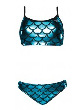 Women's Funnies Mermaid Wingback 2pc Bikini Swimsuit
