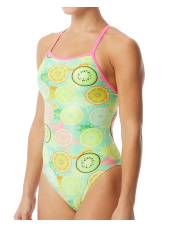 Women's Coolada Foil Funnies Flutterback Swimsuit