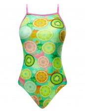 Girls' Coolada Foil Funnies Flutterback Swimsuit