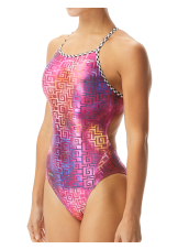 Women's Templed Foil Funnies Wingback Swimsuit