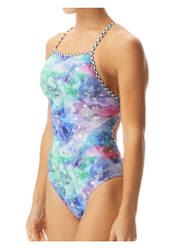 Women's Shooting Star Foil Funnies Flutterback Swimsuit