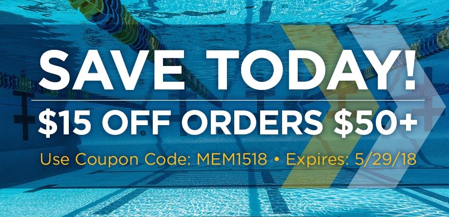$15 off orders $50+